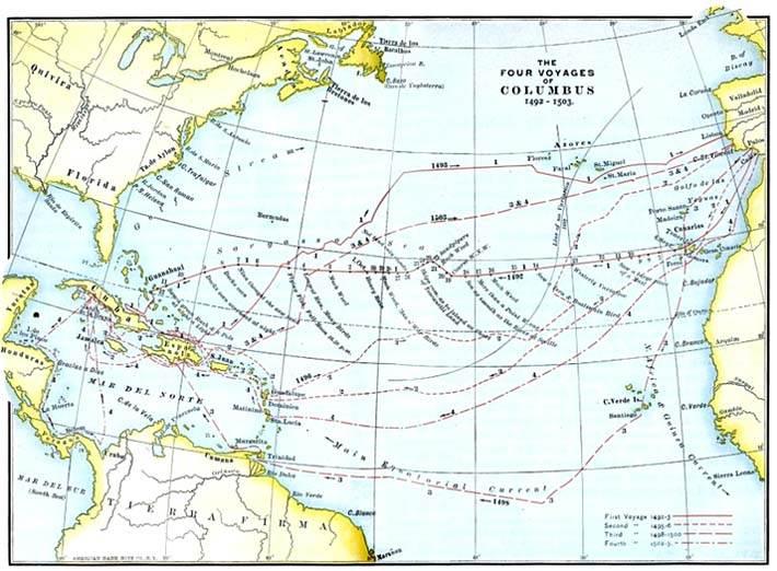 История путешествия Колумба в Америку реферат Энциклопедия  Что происходило во время последующих путешествий Колумба